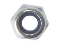 Forgefix FORNYLOC10G - Hexagon Nut & Nylon Insert ZP M10 Bag 50