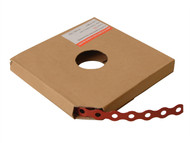 Forgefix FORPCBR12 - Red Plastic Coated Pre-Galvanised Band 12mm x 0.8 x 10m Box 1