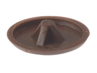 Forgefix FORPCC1B - Pozi Cover Cap Dark Brown No.6-8 Blister 50