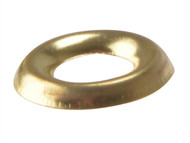 Forgefix FORSCW6BM - Screw Cup Washers Solid Brass Polished No.6 Bag 200