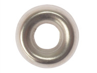 Forgefix FORSCW6NM - Screw Cup Washers Solid Brass Nickel Plated No.6 Bag 200