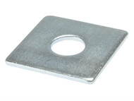 Forgefix FORSQPL5016M - Square Plate Washer ZP 50 x 50 x 16mm Bag 10
