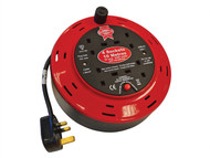 Faithfull Power Plus FPPCR10M10A - Cable Reel 240 Volt 10 Metre 10 Amp 4 Socket