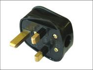 Faithfull Power Plus FPPPLUG13R - Black Rubberised Plug 240 Volt 13 Amp
