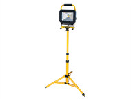 Faithfull Power Plus FPPSLLED30T - COB LED Single Pod Tripod Sitelight 2100 Lumen 30 Watt 240 Volt