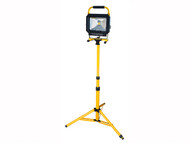 Faithfull Power Plus FPPSLLED30TL - COB LED Single Pod Tripod Sitelight 2100 Lumen 30 Watt 110 Volt