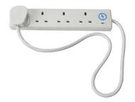 Faithfull Power Plus FPPTL4SURGE1 - Trailing Socket 240 Volt Anti-Surge 4 Way Socket 13 Amp 1 Metre