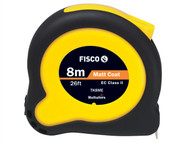 Fisco FSCTK8MEHV - Tuf-Lok Hi Vis Tape Measure 8m / 26ft (Width 25mm)