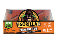 Gorilla Glue GRGPKTAPE27 - Gorilla Packaging Tape 72mm x 27m Refill Pack of 2