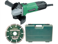 Hitachi HITG12SSCD - G12SSCD 115mm Grinder with Diamond Blade & Case 240 Volt