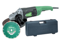 Hitachi HITG23SSCD - G23SS 230mm Angle Grinder with Diamond Blade & Case 1900 Watt 240 Volt