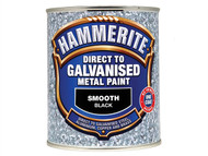 Hammerite HMMDGBK750 - Direct To Galvanised Metal Paint Black 750ml