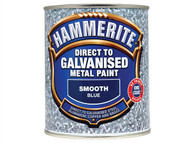 Hammerite HMMDGBL750 - Direct To Galvanised Metal Paint Blue 750ml
