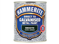 Hammerite HMMDGDG750 - Direct To Galvanised Metal Paint Dark Green 750ml