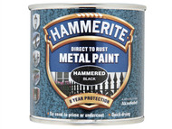 Hammerite HMMHFBL250 - Direct to Rust Hammered Finish Metal Paint Black 250ml