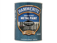 Hammerite HMMHFBL5L - Direct to Rust Hammered Finish Metal Paint Black 5 Litre