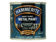 Hammerite HMMHFDG250 - Direct to Rust Hammered Finish Metal Paint Dark Green 250ml