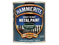 Hammerite HMMHFDG750 - Direct to Rust Hammered Finish Metal Paint Dark Green 750ml