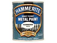 Hammerite HMMHFW750 - Direct to Rust Hammered Finish Metal Paint White 750ml