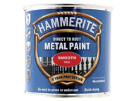 Hammerite HMMSFR250 - Direct to Rust Smooth Finish Metal Paint Red 250ml