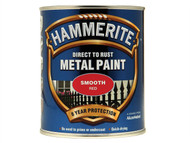 Hammerite HMMSFR750 - Direct to Rust Smooth Finish Metal Paint Red 750ml