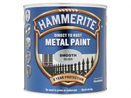 Hammerite HMMSFS25L - Direct to Rust Smooth Finish Metal Paint Silver 2.5 Litre