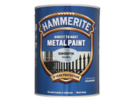 Hammerite HMMSFS5L - Direct to Rust Smooth Finish Metal Paint Silver 5 Litre