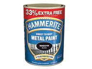 Hammerite HMMSFS750AV - Direct to Rust Smooth Finish Metal Paint Silver 750ml + 33%