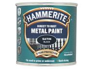 Hammerite HMMSFSB250 - Direct to Rust Satin Finish Metal Paint Black 250ml