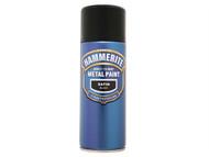 Hammerite HMMSFSBAERO - Direct to Rust Smooth Finish Aerosol Satin Black 400ml