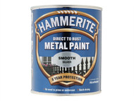 Hammerite HMMSFSI250 - Direct to Rust Smooth Finish Metal Paint Silver 250ml