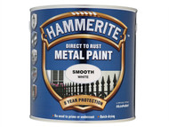 Hammerite HMMSFW25L - Direct to Rust Smooth Finish Metal Paint White 2.5 Litre
