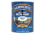 Hammerite HMMSFW5L - Direct to Rust Smooth Finish Metal Paint White 5 Litre