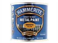 Hammerite HMMSFY250 - Direct to Rust Smooth Finish Metal Paint Yellow 250ml
