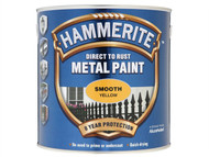 Hammerite HMMSFY25L - Direct to Rust Smooth Finish Metal Paint Yellow 2.5 Litre