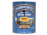 Hammerite HMMSFY5L - Direct to Rust Smooth Finish Metal Paint Yellow 5 Litre