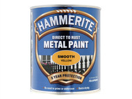 Hammerite HMMSFY750 - Direct to Rust Smooth Finish Metal Paint Yellow 750ml
