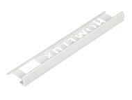 Homelux HOMHPJT200 - Tile Trim Homelux PVC Straight Edge White 8mm x 2.5m (Box 10)