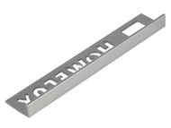 Homelux HOMHPJT8SI25 - Tile Trim Homelux Metal Straight Edge Silver Effect 8mm x 2.5m (Box 10)