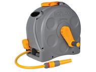 Hozelock HOZ2415 - 2415 25m 2-n-1 Compact Hose Reel + 25 Metres of Starter Hose
