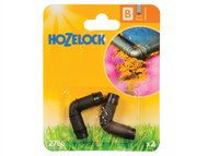 Hozelock HOZ2766 - Elbow Connector 90 Degree 13mm (2 pack)