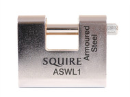 Henry Squire HSQASWL1 - ASWL1 Steel Armoured Warehouse Padlock 60mm