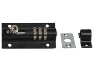 Henry Squire HSQCOMBI3 - 3-Wheel Re-Codeable CombiBolt Lock Black