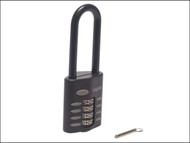 Henry Squire HSQCP5025 - CP50/2.5 Combination Padlock 4-Wheel 50mm Extra Long Shackle 63.5mm
