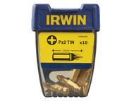 IRWIN IRW10504342 - Screwdriver Bits Pozi PZ2 25mm Titanium Pack of 10