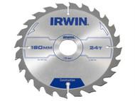 IRWIN IRW1897195 - Circular Saw Blade 180 x 30mm x 24T ATB