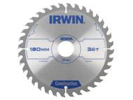 IRWIN IRW1897196 - Circular Saw Blade 180 x 30mm x 36T ATB