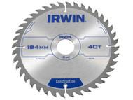 IRWIN IRW1897198 - Circular Saw Blade 184 x 30mm x 40T ATB