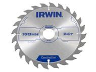 IRWIN IRW1897199 - Circular Saw Blade 190 x 30mm x 24T ATB