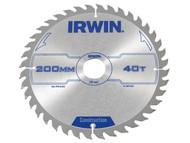 IRWIN IRW1897202 - Circular Saw Blade 200 x 30mm x 40T ATB
